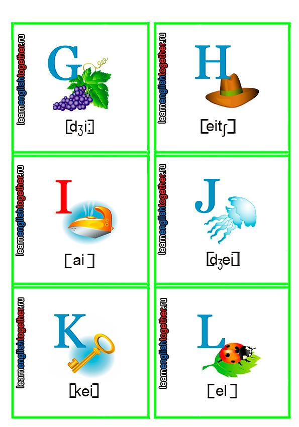 алфавит в картинках для детей, английский алфавит