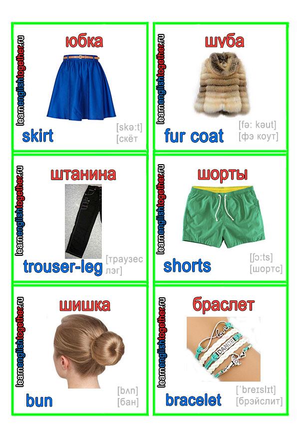 английский детский словарик