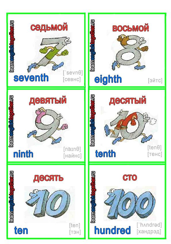 Изучение языков, числа словами, перевод чисел