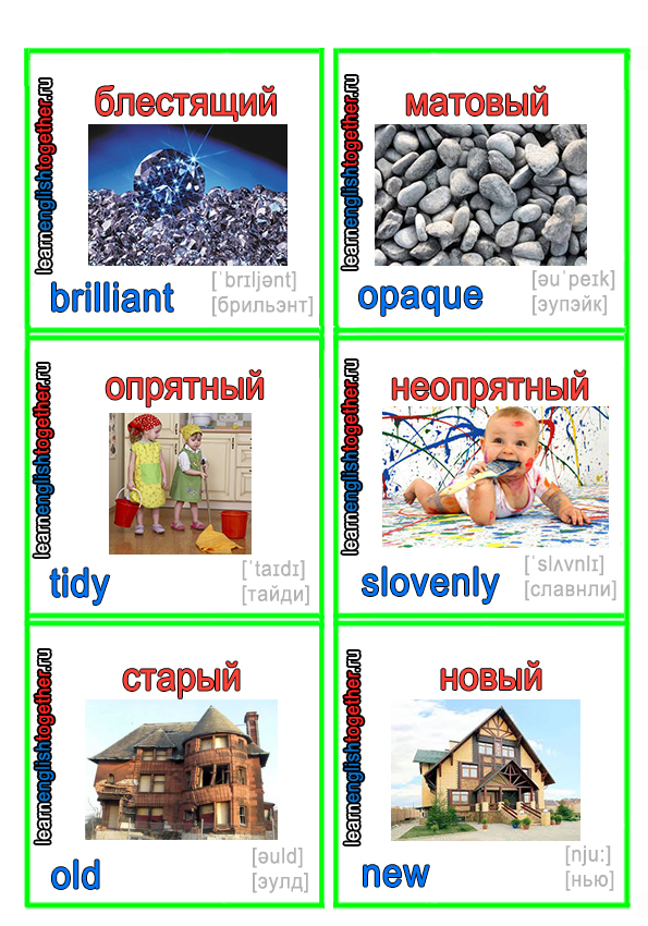английский язык для начинающих, английский в картинках